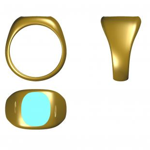 chevalière forme ovale antique