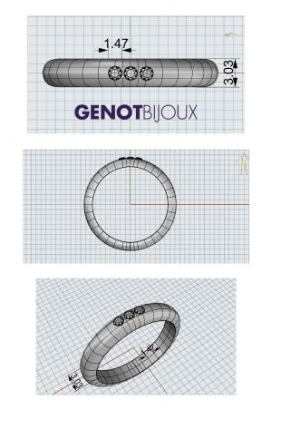 3 stones wedding ring